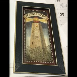 Lighthouse picture beacons landing black frame